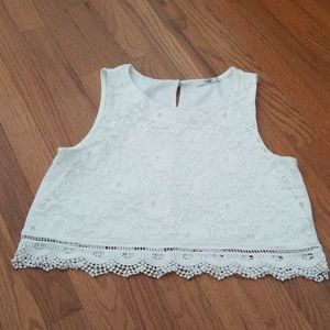 Size large cute crop top